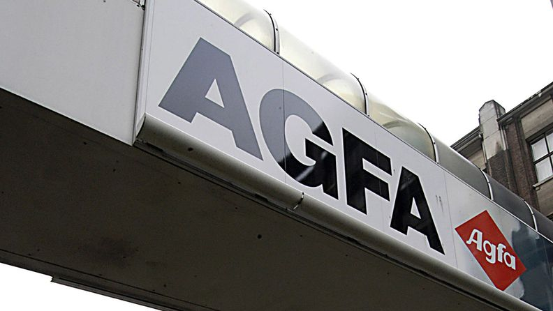 An Agfa sign displayed at the Agfa-Gevaert NV head office in Mortsel, Belgium