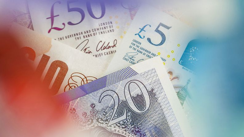 assorted British pound notes