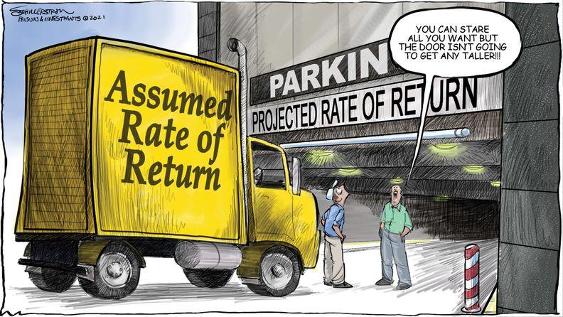 Assumed rate of return cartoon