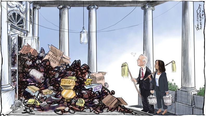 Biden-Harris cartoon