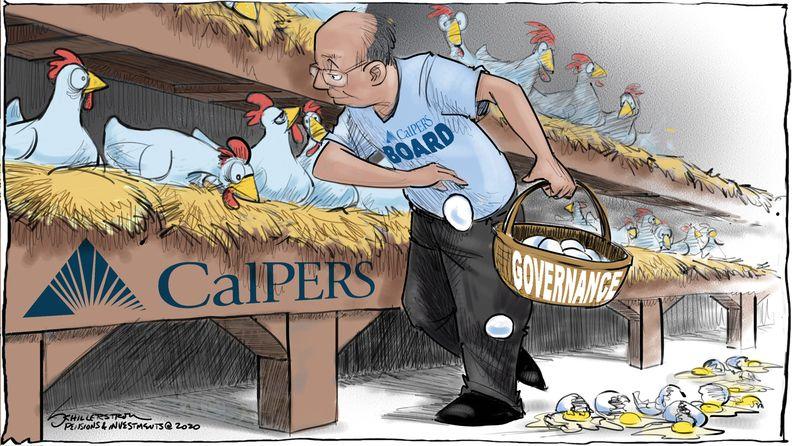 CalPERS governance cartoon