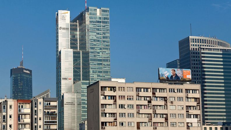 Ccmmercial and residential property in Warsaw, Poland