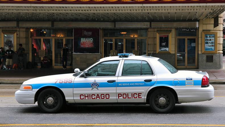 A Chicago Police patrol car
