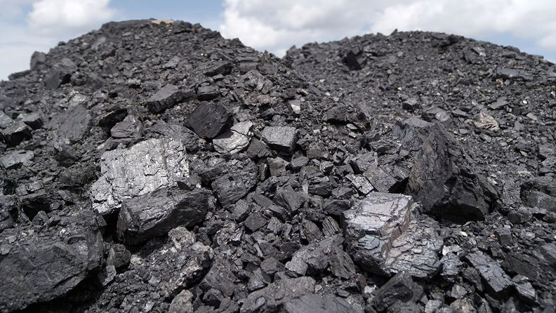 A pile of coal at a mine in Borneo, Indonesia