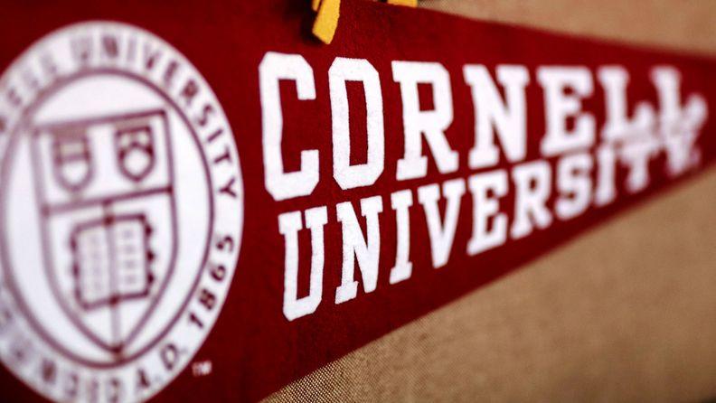 A banner for Cornell University