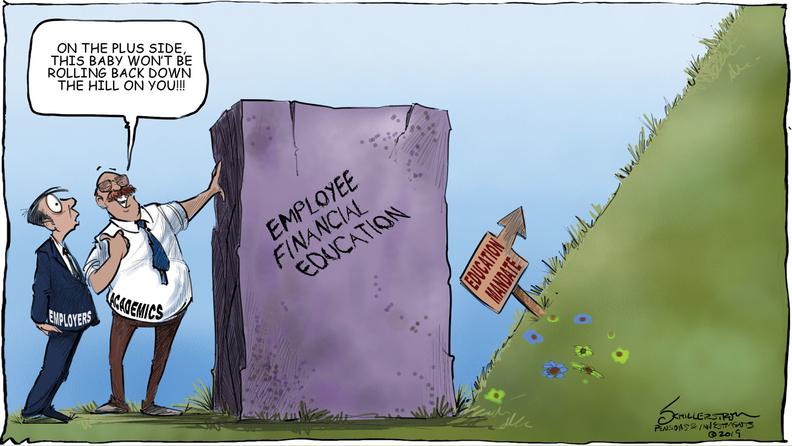 Financial education cartoon