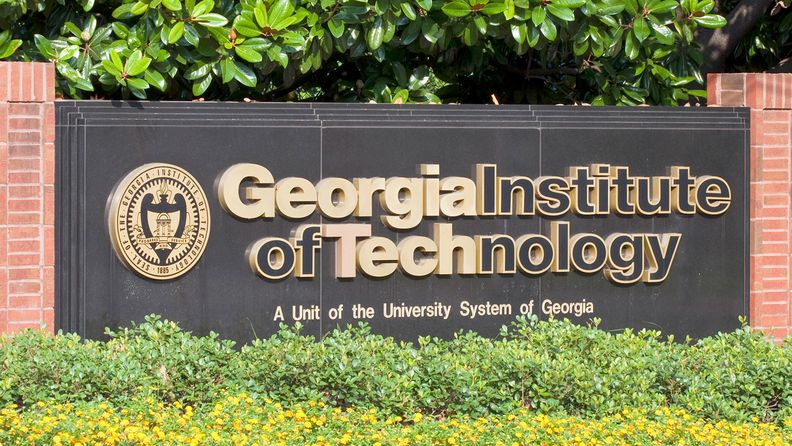 Sign marking an entrance to the Georgia Institute of Technology