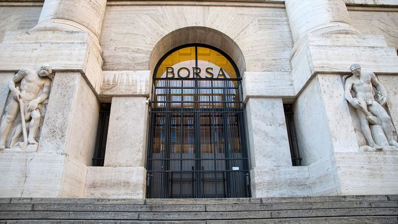 Italy's Stock Exchange, the Borsa Italiana, which is part of the London Stock Exchange Group, in Milan