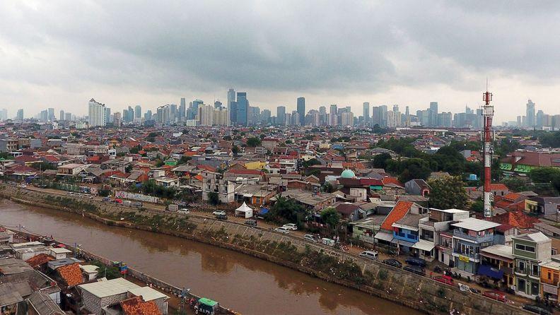 The skyline of Jakarta, Indonesia's capital