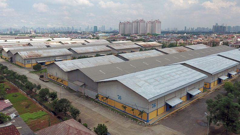 The State Logistics Agency (Bulog) warehouse is seen in this aerial photograph taken in Jakarta, Indonesia, on April 7, 2020