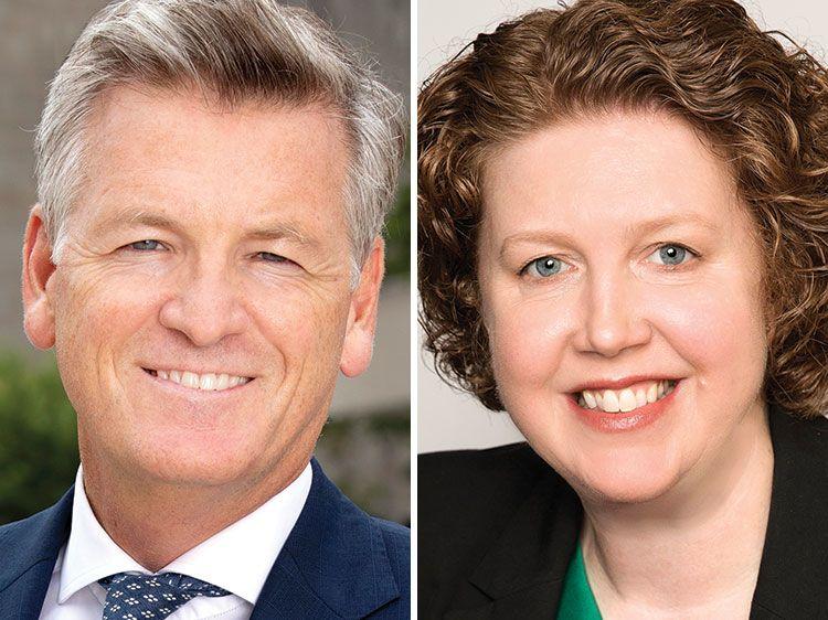 Michael Kelly and Katharine Preston
