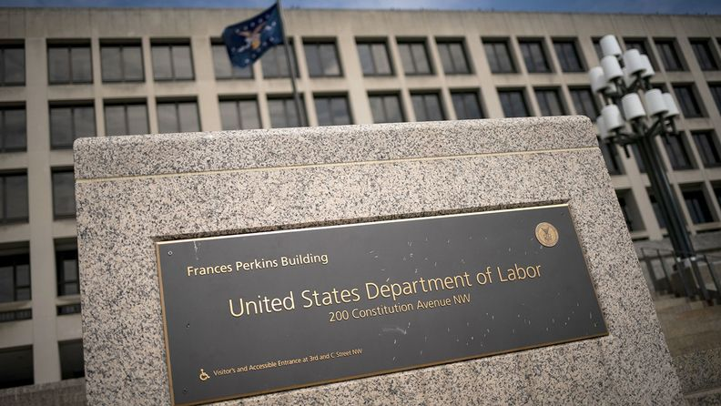 The U.S. Department of Labor headquarters stands in Washington