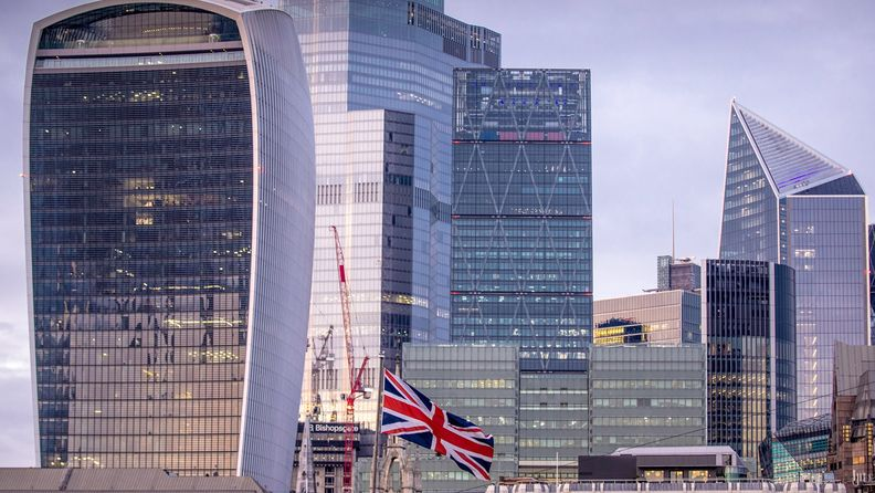 A view of London's financial district