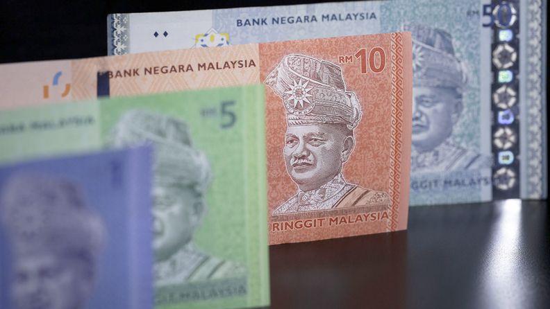 Malaysian ringgit banknotes of various denominations