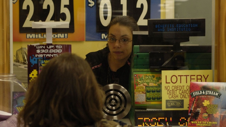 A liquor store lottery window in Laurel Lakes, N.J.