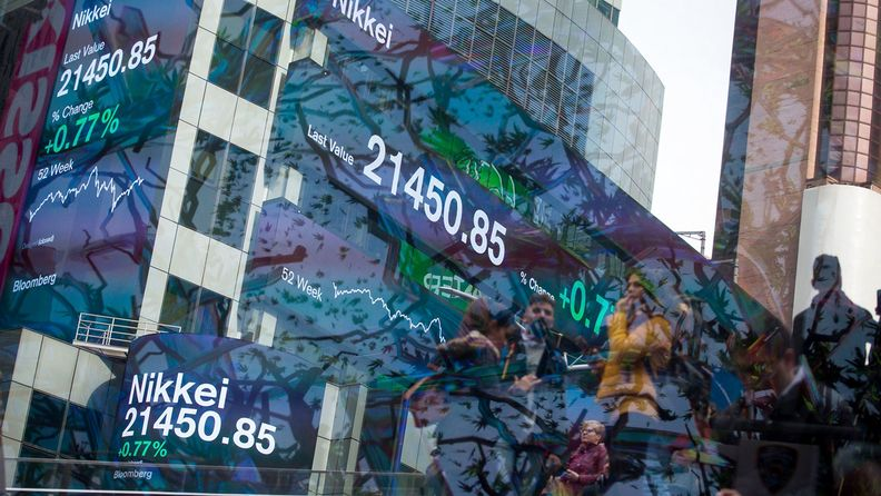 Times Square As Tech Shares Lead U.S. Stocks Higher