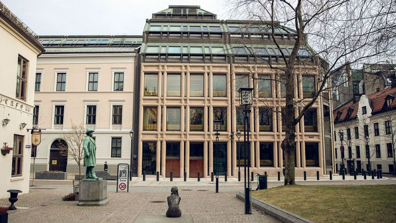 The Norges Bank, Norway's central bank, stands in Oslo, Norway, on March 25, 2020