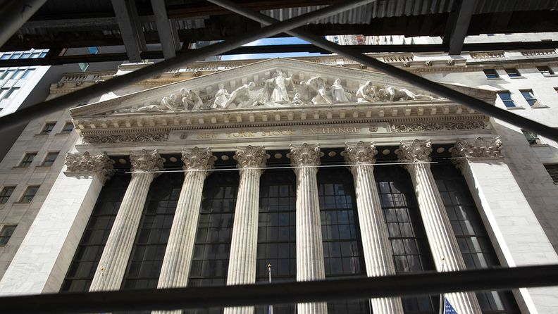 Front of the New York Stock Exchange on Oct. 2, 2020
