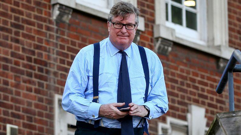 Crispin Odey, founding partner of Odey Asset Management, outside Hendon Magistrates' Court during a break in proceedings in London