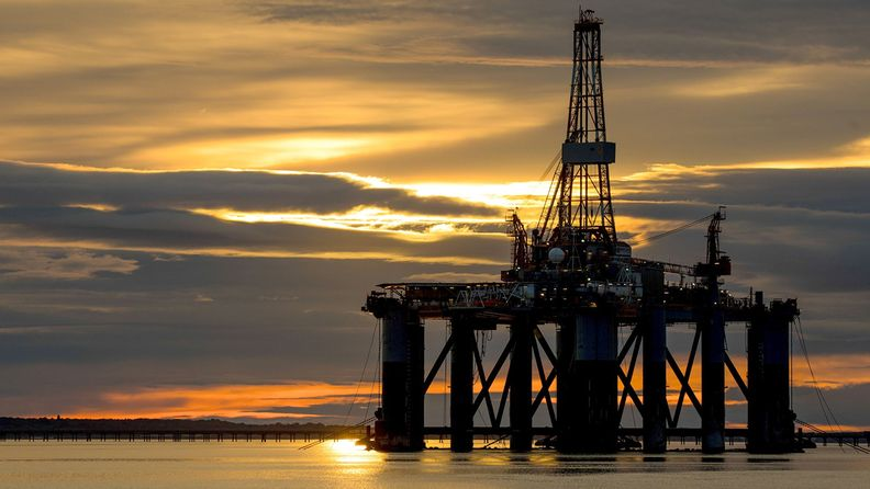 Offshore drilling rig in Scotland