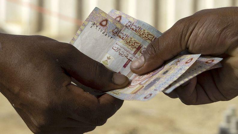 Omani riyal currency banknotes