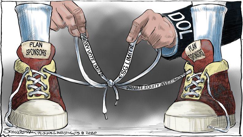 Plan sponsor turmoil cartoon