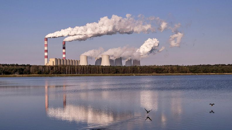 A coal-powered power plant in Poland
