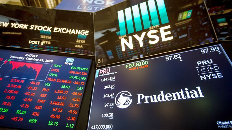 Electronic quote shown for Prudential on the floor of the New York Stock Exchange