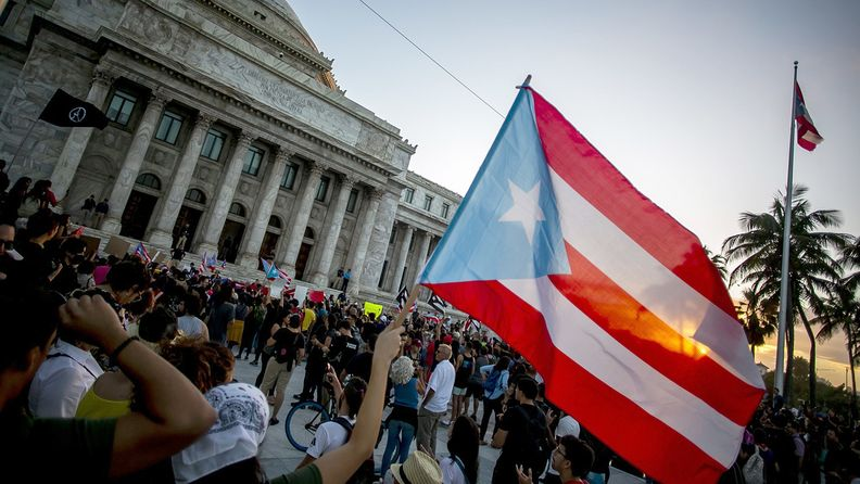 The Puerto Rico flag is flown at the island's capitol