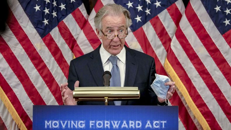 Rep. Richard Neal, D-Mass., at a news conference unveiling the Moving Forward Act at the U.S. Capitol in Washington on June 19, 2020.