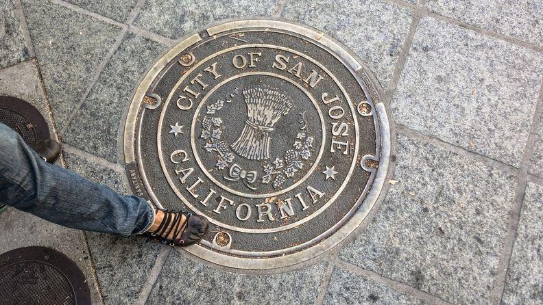 san jose california seal sidewalk