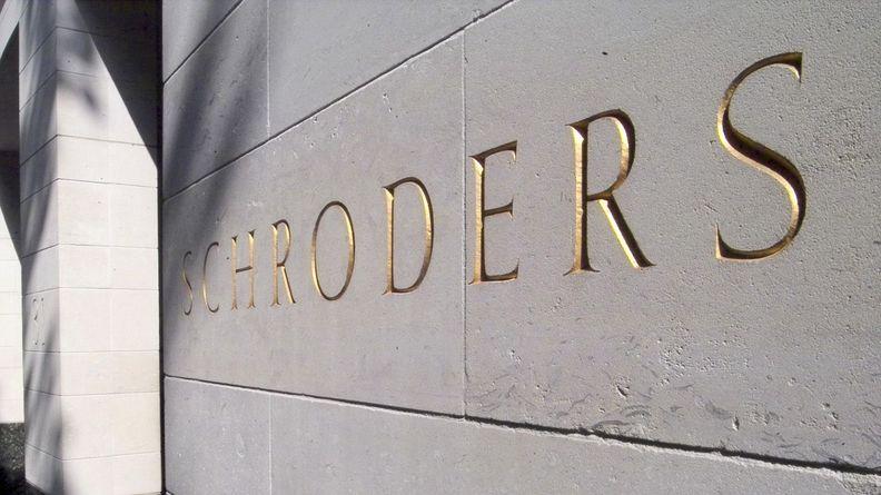 Schroders PLC office building on Gresham Street in London's financial district