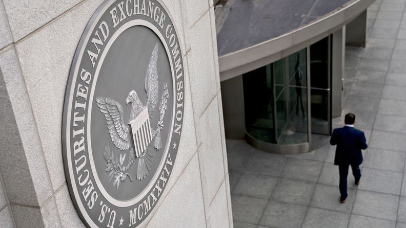 The SEC seal on the agency's headquarters in Washington