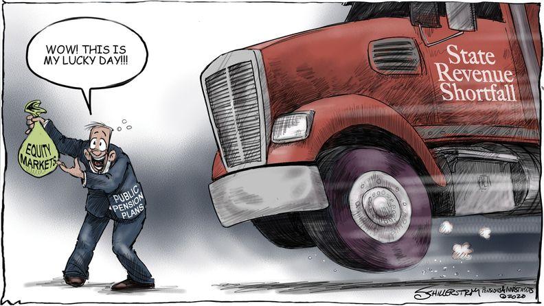 State finances cartoon