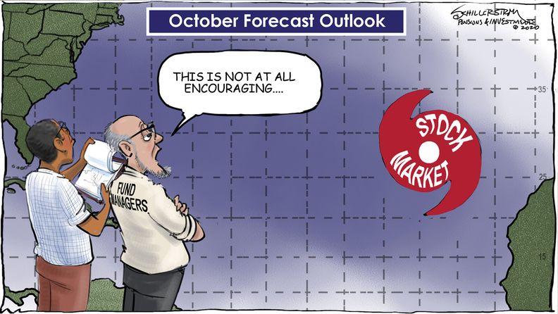 Stock markets cartoon