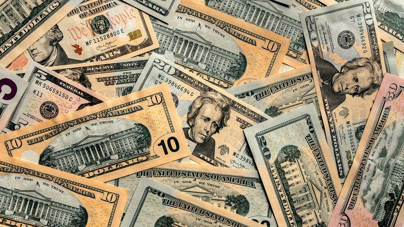 A variety of U.S. dollar bills