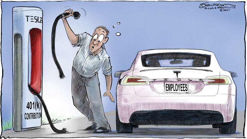 Tesla cartoon