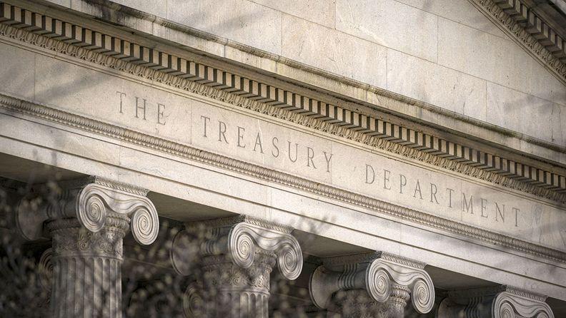 The Treasury building in Washington