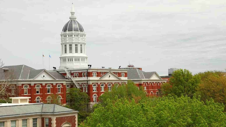 The Jesse Hall dome towers over the University of Missouri in Columbia