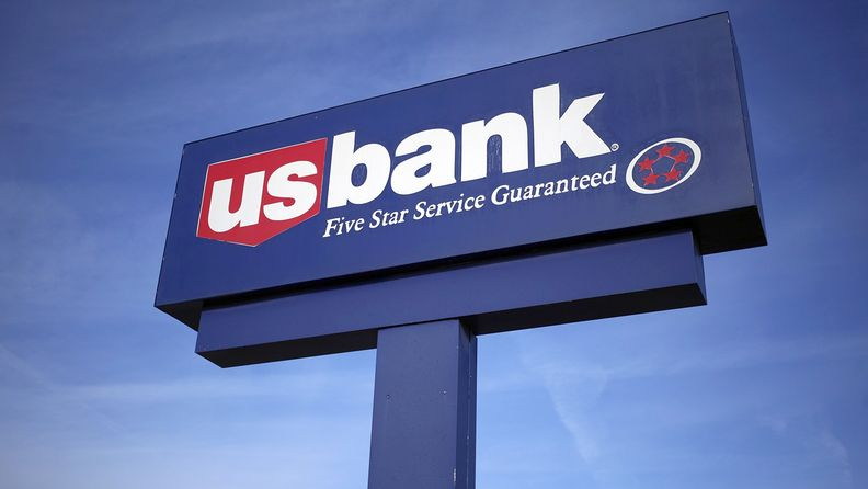 A US Bancorp sign outside a bank branch in Lexington, Ky., on Jan. 9, 2020