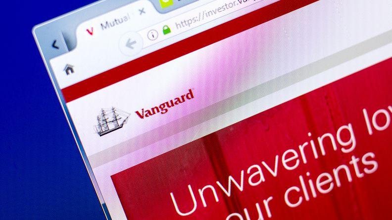 screenshot of Vanguard Group website