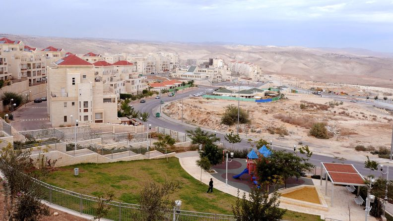 Housing sits on the development at Ma'aleh Adumim, an Israeli settlement on the West Bank